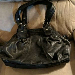 Lucky Black leather purse  like new